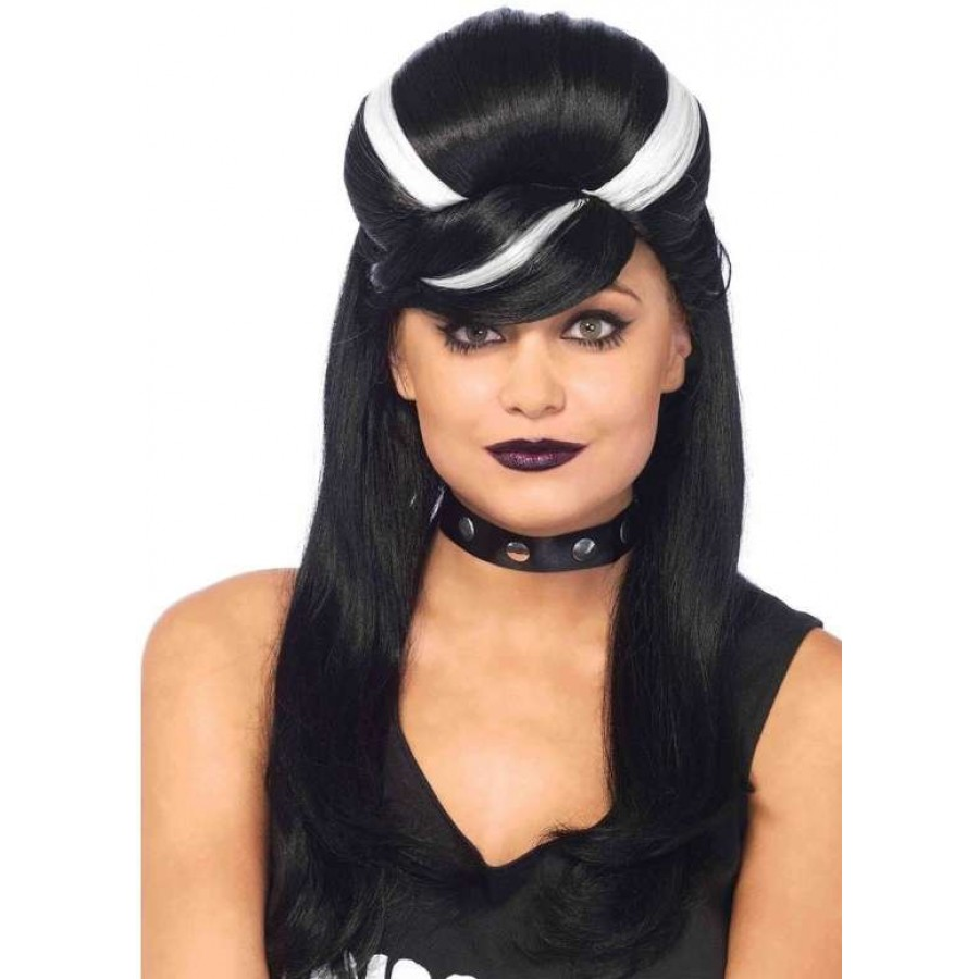Frankie Bouffant Long Black Gothic Costume Wig at Cosplay Costume Closet Halloween Cosplay Costumes |  sc 1 st  Cosplay Costume Closet & Frankie Bouffant Long Black Gothic Wig | Cosplay Halloween Wigs