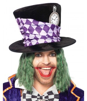 Oversized Mad Hatter Velvet Top Hat Cosplay Costume Closet Halloween Shop Halloween Cosplay Costumes | Kids, Adult & Plus Size Halloween Costumes