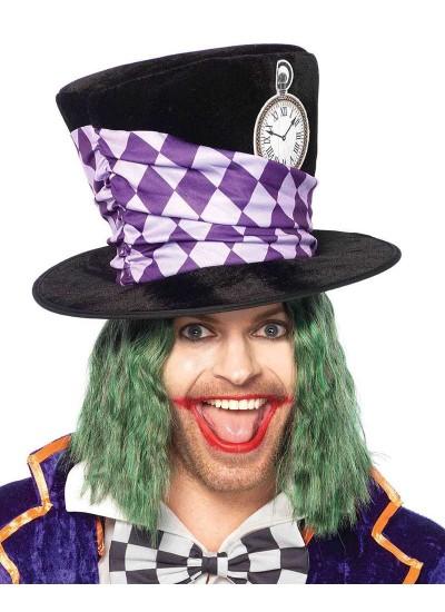 Oversized Mad Hatter Velvet Top Hat at Cosplay Costume Closet Halloween Shop, Halloween Cosplay Costumes | Kids, Adult & Plus Size Halloween Costumes