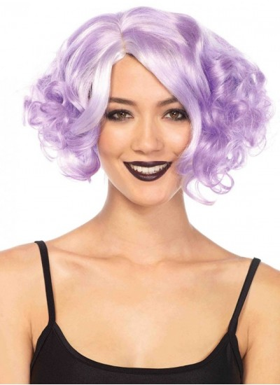 Lavender Curly Bob Short Wig at Cosplay Costume Closet Halloween Shop, Halloween Cosplay Costumes | Kids, Adult & Plus Size Halloween Costumes