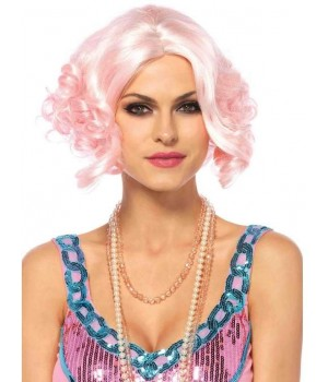 Pink Curly Bob Short Wig Cosplay Costume Closet Halloween Shop Halloween Cosplay Costumes | Kids, Adult & Plus Size Halloween Costumes