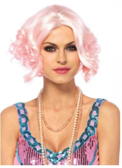 Pink Curly Bob Short Wig at Cosplay Costume Closet Halloween Shop, Halloween Cosplay Costumes | Kids, Adult & Plus Size Halloween Costumes