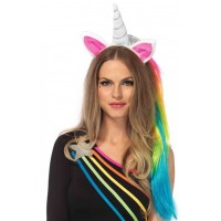 Unicorn Headband with Mane