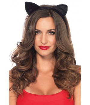 Black Velvet Cat Ear Headband Cosplay Costume Closet Halloween Shop Halloween Cosplay Costumes | Kids, Adult & Plus Size Halloween Costumes