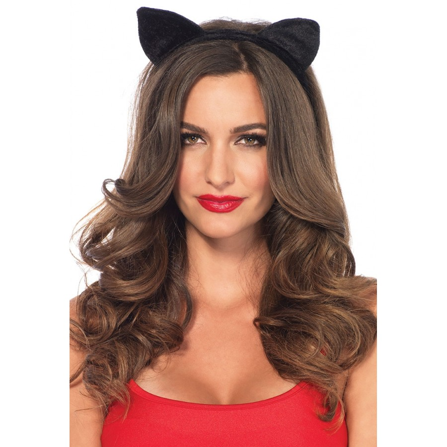 Black Velvet Cat Ear Headband at Cosplay Costume Closet Halloween Cosplay Costumes | Kids  sc 1 st  Cosplay Costume Closet : halloween costumes cat ears  - Germanpascual.Com