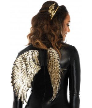 Gold Sequin Angel Wings Cosplay Costume Closet Halloween Shop Halloween Cosplay Costumes | Kids, Adult & Plus Size Halloween Costumes