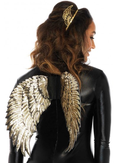 Gold Sequin Angel Wings at Cosplay Costume Closet Halloween Costume Shop, Halloween Cosplay Costumes | Kids, Adult & Plus Size Halloween Costumes
