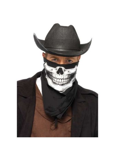 Skull Print Bandanna at Cosplay Costume Closet Halloween Shop, Halloween Cosplay Costumes | Kids, Adult & Plus Size Halloween Costumes