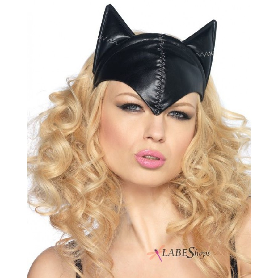 Feline Femme Fatale Cat Mask  sc 1 st  Cosplay Costume Closet & Black Cat Mask - Hat with Cat Ears
