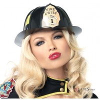 Firechief Black Costume Hat