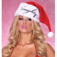 Naughty or Nice Plush Santa Hat