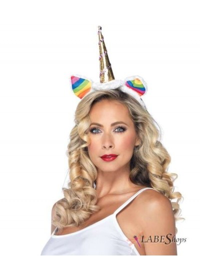 Rainbow Unicorn Headband at Cosplay Costume Closet Halloween Shop, Halloween Cosplay Costumes | Kids, Adult & Plus Size Halloween Costumes
