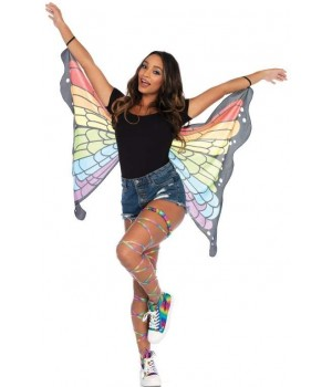 Rainbow Mini Butterfly Festival Wings Cosplay Costume Closet Halloween Shop Halloween Cosplay Costumes | Kids, Adult & Plus Size Halloween Costumes