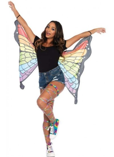 Rainbow Mini Butterfly Festival Wings at Cosplay Costume Closet Halloween Costume Shop, Halloween Cosplay Costumes | Kids, Adult & Plus Size Halloween Costumes