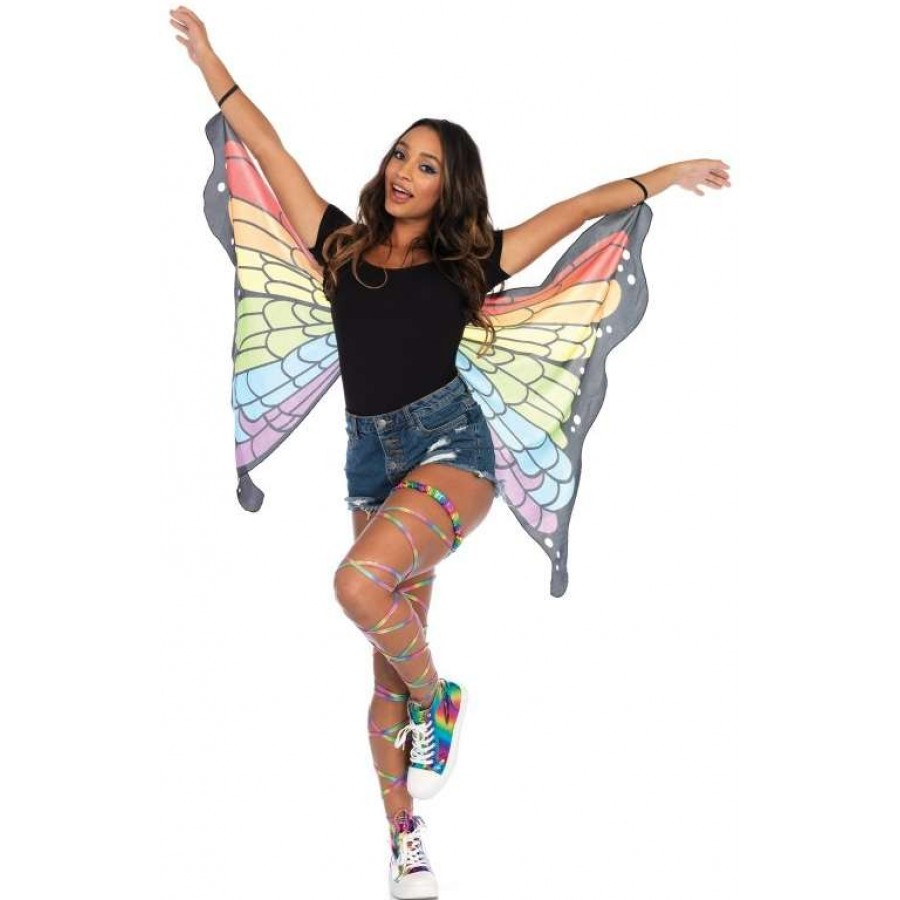 rainbow mini butterfly festival wings at cosplay costume closet halloween costume shop halloween cosplay costumes