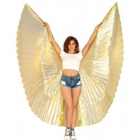 Isis Gold Pleated Festival Wings
