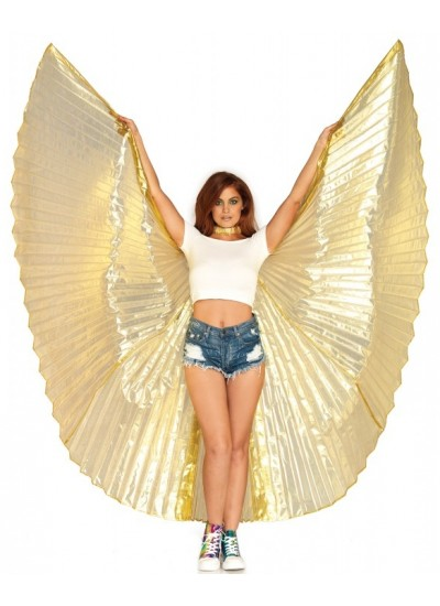 Isis Gold Pleated Festival Wings at Cosplay Costume Closet Halloween Costume Shop, Halloween Cosplay Costumes | Kids, Adult & Plus Size Halloween Costumes