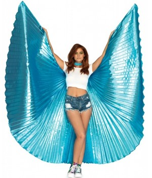 Isis Turquoise Pleated Festival Wings Cosplay Costume Closet Halloween Shop Halloween Cosplay Costumes | Kids, Adult & Plus Size Halloween Costumes
