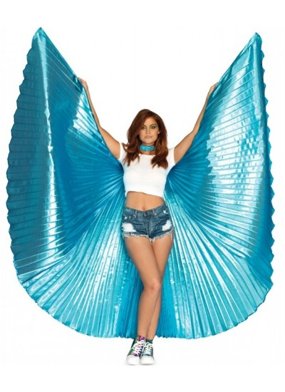 Isis Turquoise Pleated Festival Wings at Cosplay Costume Closet Halloween Shop, Halloween Cosplay Costumes | Kids, Adult & Plus Size Halloween Costumes