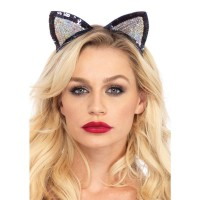 Sequin Kitty Cat Ears