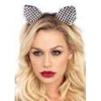 Studded Silver Cat Ears