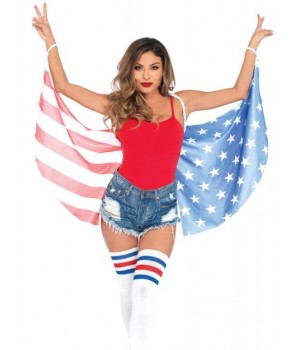 American Flag Stars and Stripes Festival Wings Cosplay Costume Closet Halloween Shop Halloween Cosplay Costumes | Kids, Adult & Plus Size Halloween Costumes