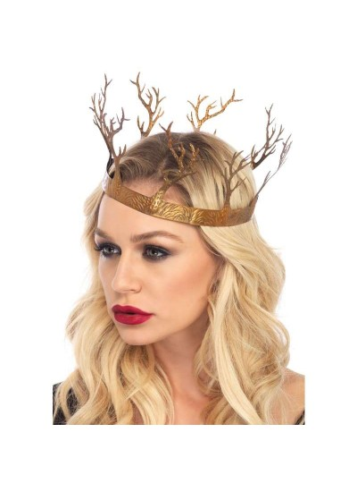 Golden Forest Crown at Cosplay Costume Closet Halloween Shop, Halloween Cosplay Costumes   Kids, Adult & Plus Size Halloween Costumes
