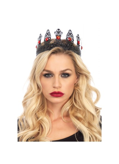 Jeweled Black Filigree Metal Crown at Cosplay Costume Closet Halloween Costume Shop, Halloween Cosplay Costumes | Kids, Adult & Plus Size Halloween Costumes
