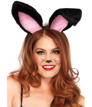 Plush Bunny Ears in Black or White Cosplay Costume Closet Halloween Shop Halloween Cosplay Costumes | Kids, Adult & Plus Size Halloween Costumes