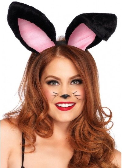 Plush Bunny Ears in Black or White at Cosplay Costume Closet Halloween Costume Shop, Halloween Cosplay Costumes | Kids, Adult & Plus Size Halloween Costumes