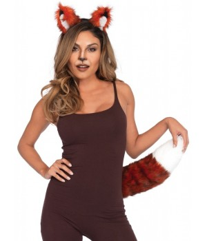 Fox Ears and Tail Costume Kit Cosplay Costume Closet Halloween Shop Halloween Cosplay Costumes | Kids, Adult & Plus Size Halloween Costumes