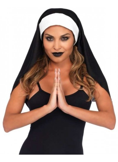 Nun Habit Costume Hat at Cosplay Costume Closet Halloween Shop, Halloween Cosplay Costumes | Kids, Adult & Plus Size Halloween Costumes