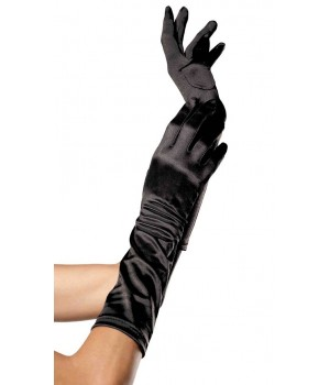 Black Satin Elbow Length Gloves Cosplay Costume Closet Halloween Shop Halloween Cosplay Costumes | Kids, Adult & Plus Size Halloween Costumes