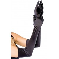 Satin Extra Long Black Opera Gloves