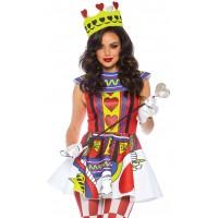 Card Queen 3 Piece Womens Halloween Costume