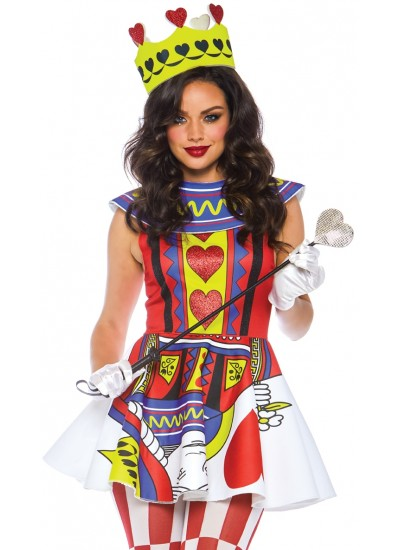 Card Queen 3 Piece Womens Halloween Costume at Cosplay Costume Closet Halloween Shop, Halloween Cosplay Costumes | Kids, Adult & Plus Size Halloween Costumes