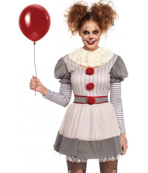 Creepy Clown Womes Halloween Costume Cosplay Costume Closet Halloween Shop Halloween Cosplay Costumes | Kids, Adult & Plus Size Halloween Costumes