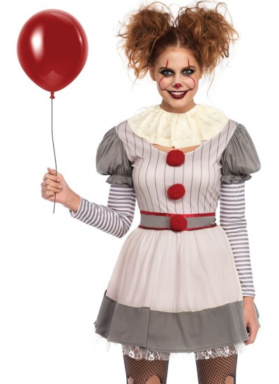 Creepy Clown Womes Halloween Costume at Cosplay Costume Closet Halloween Costume Shop, Halloween Cosplay Costumes | Kids, Adult & Plus Size Halloween Costumes