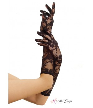 Black Elbow Length Lace Gloves Cosplay Costume Closet Halloween Shop Halloween Cosplay Costumes | Kids, Adult & Plus Size Halloween Costumes