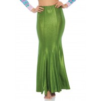 Green Shimmer Spandex Mermaid Skirt
