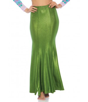 Green Shimmer Spandex Mermaid Skirt Cosplay Costume Closet Halloween Shop Halloween Cosplay Costumes | Kids, Adult & Plus Size Halloween Costumes