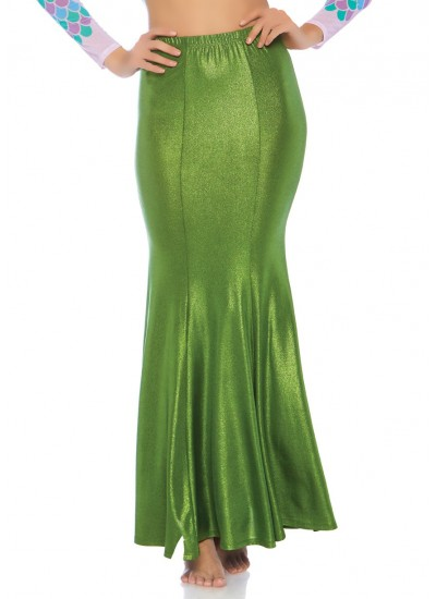 Green Shimmer Spandex Mermaid Skirt at Cosplay Costume Closet Halloween Shop, Halloween Cosplay Costumes | Kids, Adult & Plus Size Halloween Costumes