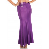 Purple Shimmer Spandex Mermaid Skirt