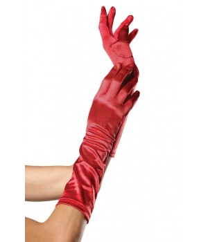Red Satin Elbow Length Gloves Cosplay Costume Closet Halloween Shop Halloween Cosplay Costumes | Kids, Adult & Plus Size Halloween Costumes