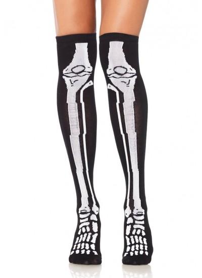 Skeleton Over the Knee Socks at Cosplay Costume Closet Halloween Shop, Halloween Cosplay Costumes | Kids, Adult & Plus Size Halloween Costumes