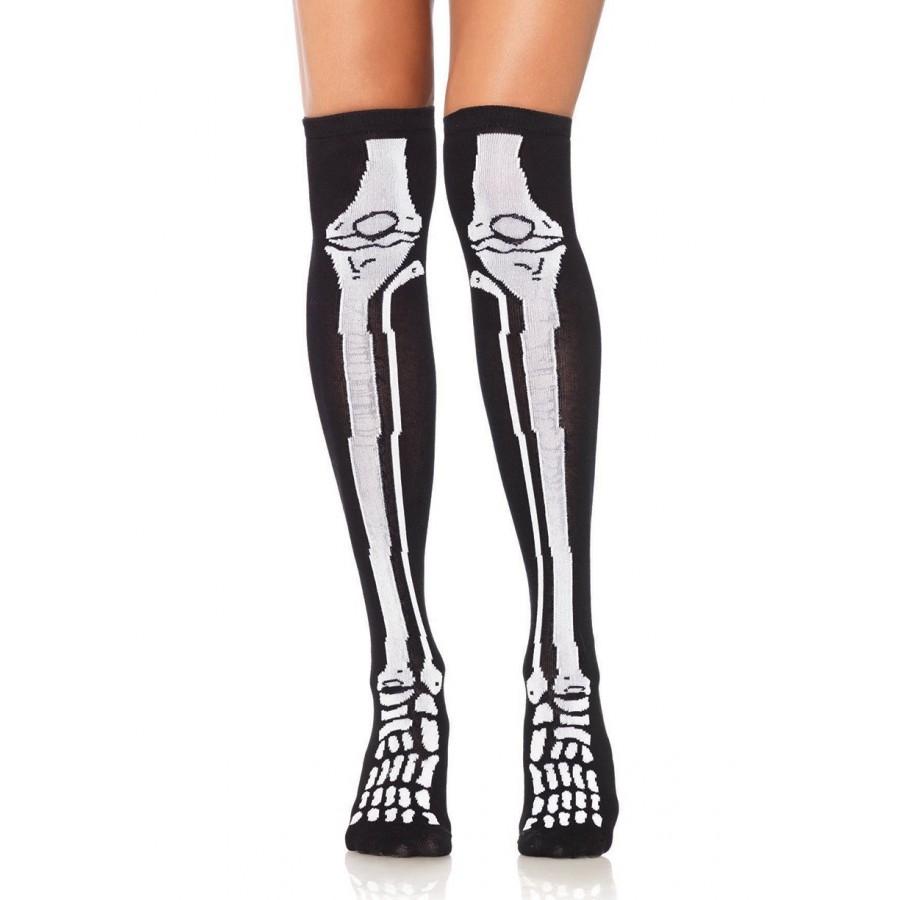 84c798032 Skeleton Over the Knee Socks at Cosplay Costume Closet Halloween Costume  Shop