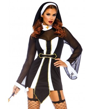 Twisted Sister Womens Nun Costume Cosplay Costume Closet Halloween Shop Halloween Cosplay Costumes | Kids, Adult & Plus Size Halloween Costumes