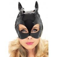 Black Vinyl Cat Mask