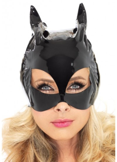 Black Vinyl Cat Mask at Cosplay Costume Closet, Halloween Cosplay Costumes | Kids, Adult & Plus Size Halloween Costumes