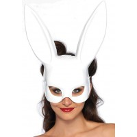 Bunny Masquerade Mask in White